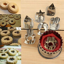 7pcs Stainless Steel Cookie Biscuit Fondant Cake Jelly Cutter Mold Baking Tools