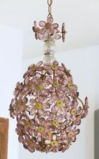 Vintage French Flower Prism Maison Bagues Style Antique Chandelier Lustre MURANO