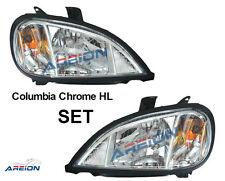 Freightliner Columbia Truck Chrome Headlight SET 2004-2011 Bulbs Included!