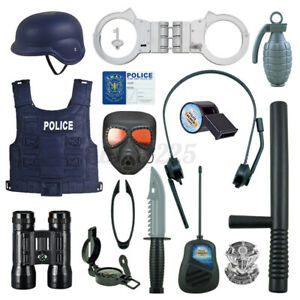 Police Cosplay Set Toys Kids Role Play Cop Simulation Boy Game For Festival Gift