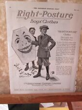 Vintage Print,RIGHT POSTURE,Boys Clothes,May 1920,Saturday Evening Post