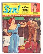 Vintage Sir! May 1962 Lori Landers, Zombie Attack Magazine (Abominable Snowman)