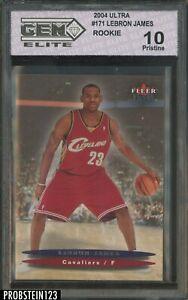 2003-04 Fleer Ultra #171 LeBron James Cavaliers RC Rookie GEM Elite 10
