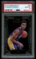 2015-16 Panini Select D'Angelo Russell Rookie #62 PSA 10 Gem Mint RC