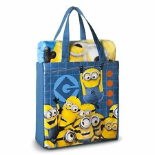 Despicable Me Minion Throw Silk Touch  & Canvas Tote 2 Piece Set Blanket