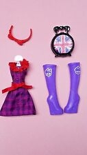 Monster High Londoom Ghoulebrities Elissabat Doll Outfit Cloth Dress Boots Shoes