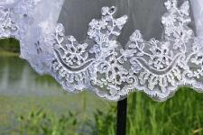 2T Beading wedding Veil lace Edge white Bridal Veil With comb