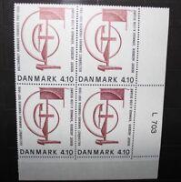 "DANIMARCA DENMARK 1988 ""10° ANNIV. SCAMBIO CULTURALE"" MNH** BLOCK OF 4 (CAT.K)"