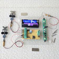 2 x HO Feu de signalis + système de contrôle par train automatiquement détecteur