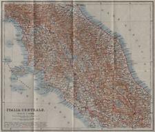 Centrale de l'italie. italia centrale mappa. baedeker 1909 old antique plan graphique