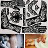 tatouage pochoirs le modèle de l'art corporel. trousse de l'inde au henné.