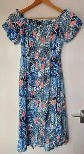 Zara Women's Summer Midi Dress In Floral Print - Size S/10/12