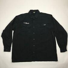 Blackhawk! Warrior Wear Men Black Long Sleeve Button Front Tactical Shirt sz 2XL