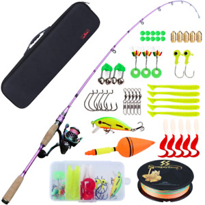 Cana De Pescar Y Carrete Spinning Combos Para Agua Salada Y Dulce, Fishing Kit