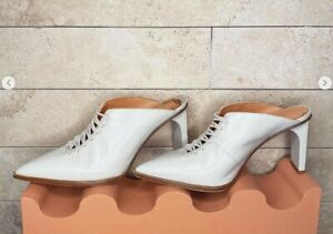 DION LEE CORSET POINTY MULES, White, size 39, great condition