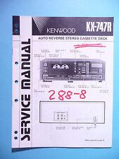 Manuel de reparation pour Kenwood kx-747r, original