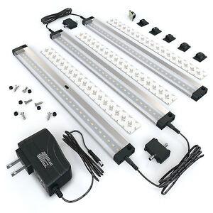 EShine 3 Panels 12 inch LED Dimmable Under Cabinet Lighting Kit- Warm White