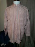 MEN'S FLAG BRAND MADE IN ITALY STRIPED XL LONG SLEEVED BUTTON SHIRT