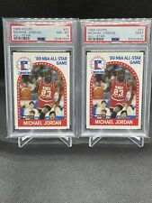 Michael Jordan Lot   1989 NBA Hoops All-Star #21 PSA 9 & PSA 8   Chicago Bulls