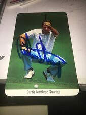 Curtis Strange Signed Large Fax Pax Golf Card