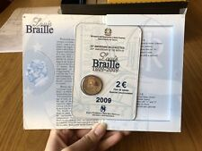 CONFEZIONE MONETA COMMEMORATIVA 2 EURO 2009 BRAILLE