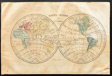 1843 - Del Mondo Antica Decorativa - Carta - Perrot & Tardieu - Mappa