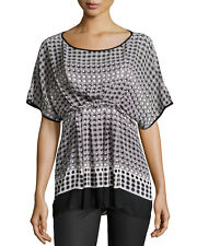 NWT MAX STUDIO WOMEN'S MULTI-COLOR 100% POLYESTER DOLMAN SLEEVE BLOUSE SZ S-$88