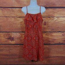 Old Navy bandana paisley western dress womens size small spaghetti strap red