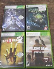 Xbox 360 Games Lot 4 Left 4 Dead 2 Bioshock 2 Walking Dead Star Wars Force