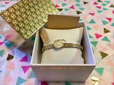 Michael Kors Pave Crystal Lock Bangle Bracelet Gold