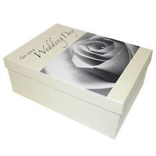 Keepsake Gift Box 'On your Wedding Day' - Rose Design - Large 36x28x16cm