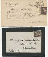 FRANKREICH 1887/00 Allegorie Handel u Frieden 25C (2x) EF schwarz a rot u lilaro