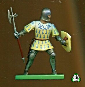 Britains: Yellow/White/Blue Foot Knight w/Pole Axe