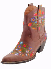 Leather Floral Stitch Boot, Size 7, Cowboy boot, Leather boots, Floral Pattern