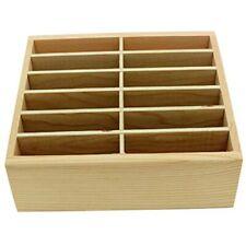 12-Grid Wooden Cell Phone Holder Desktop Organizer Storage Box Classroom Office