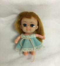 "Vintage 2 1/2"" Doll With Large Rubber Head Arms & Legs Blue Eyes Hong Kong"