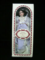 ELSIE MASSEY SPRINGTIME VICTORIAN LADIES PORCELAIN DOLL PURPLE DRESS W/ BOX