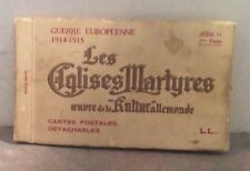 1914 European War Churches Germany Post Card Booklet