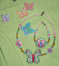 OOAK M2MG PALM SPRINGS Custom Boutique Set Clay Glass Beads Necklace Bracelet