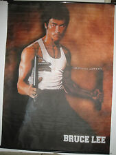 BRUCE LEE 28 x 38 Wall Scroll Rods Fabric POSTER Kung Fu TV Movie Martial Arts