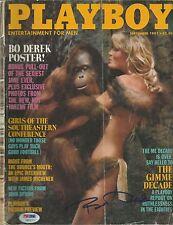 Bo Derek Signed September 1981 Playboy Magazine PSA/DNA COA Auto'd Tarzan Jane