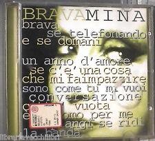 BRAVAMINA Mina WEA 1997 Musica Italiana Cantante CD Musicale Canzoni Compilation