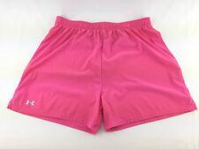 Under Armour Sz M Pink Stretch Waist Athletic Running Gym Shorts