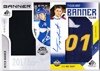 17-18 SP Game Used Tyson Jost  /15 Auto Banner Year Rookie NHL Draft 2017