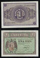 ESPAÑA año 1938. 1 peseta ABRIL serie E nº 3514408 Escudo Franco. SIN CIRCULAR-.