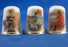 Birchcroft Thimbles -- Set of Three -- Girls Sewing