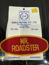 Mr Roadster Sew on Patch 13cm x 5cm Hot Rod Kustom Ford Chev Dodge