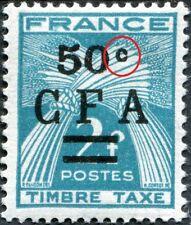 "RÉUNION C.F.A. TAXE N° 37 NEUF** Variété ""C FERMÉ"""