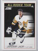 1991-92 Score Jaromir Jagr All Rookie Team Card No. 351