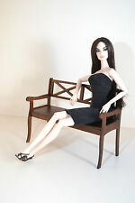 bench for dolls 1/6 1:6 12 inch Barbie furniture FR Poppy Parker Momoko